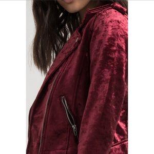 Blank NYC Jackets & Coats - Blank NYC Velvet Moto jacket